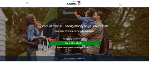 See if you qualify for Capital One Auto Refinance