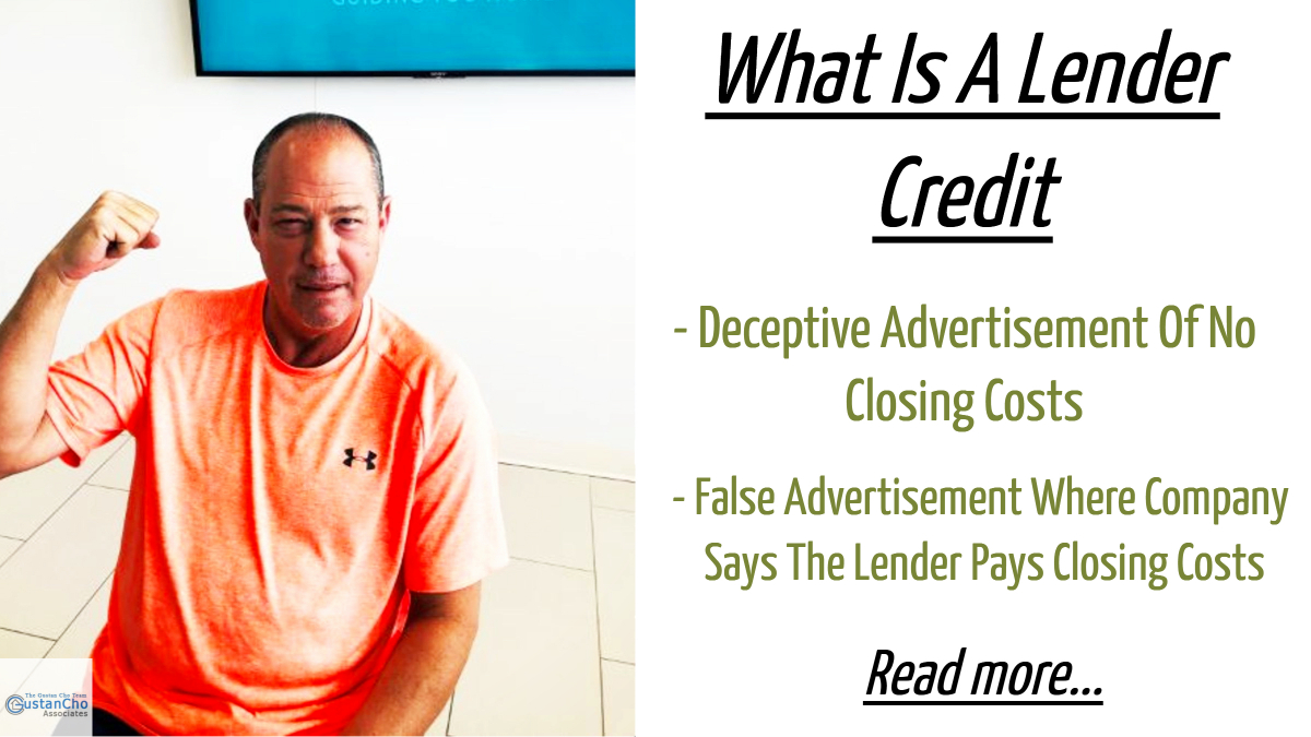 What Is A Lender Credit For Home Purchase Closing Costs