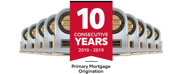 Highest in Customer Satisfaction in the U.S. – J.D. Power. Highest in Customer Satisfaction for Primary Mortgage Origination, Nine Years in a Row, and Mortgage Servicing, Five Years in a Row.