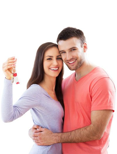 husband and wife using Spring Texas Mortgage Lender to buy a house