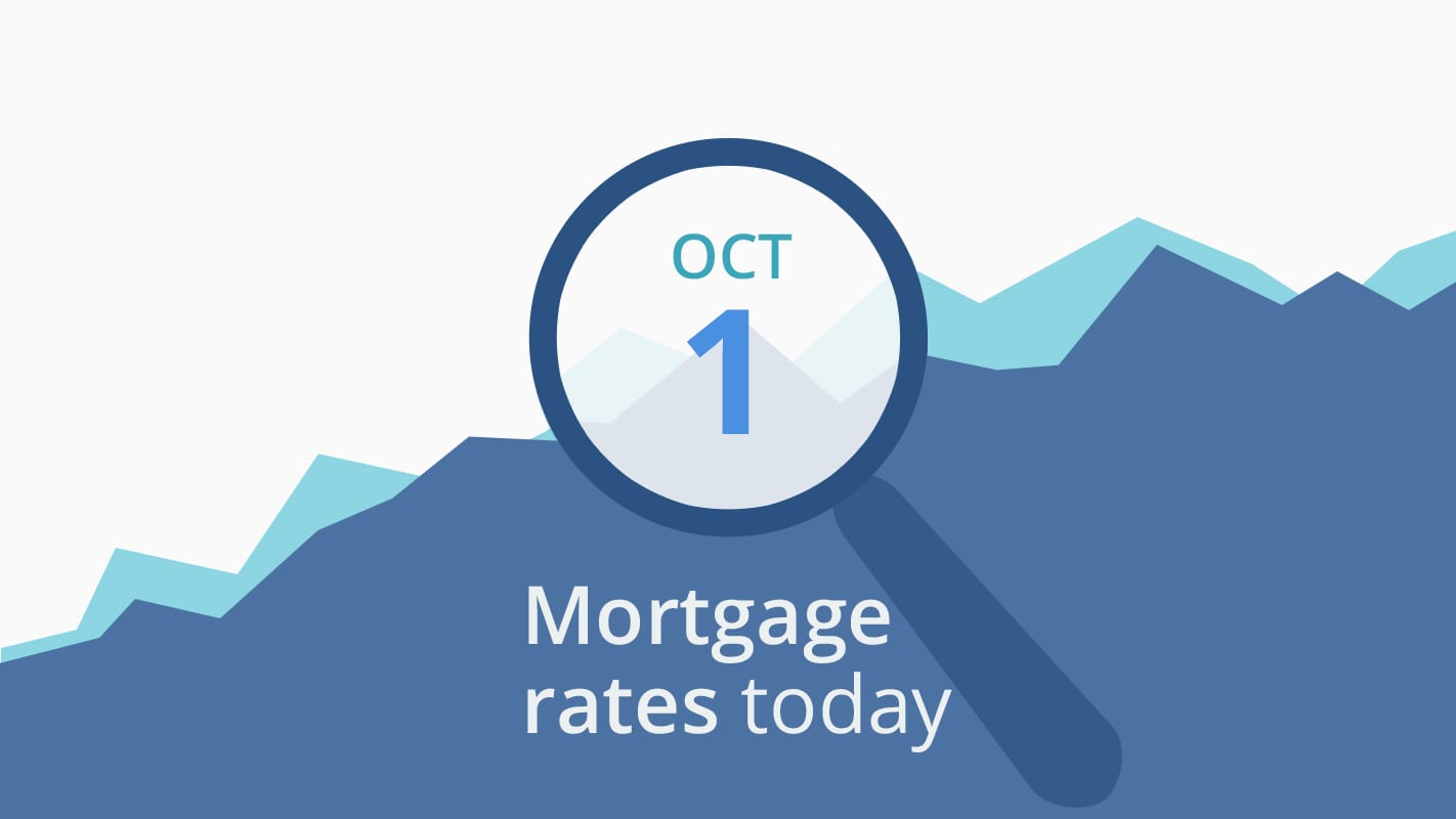 Mortgage rates today, October 1, 2018, plus lock recommendations