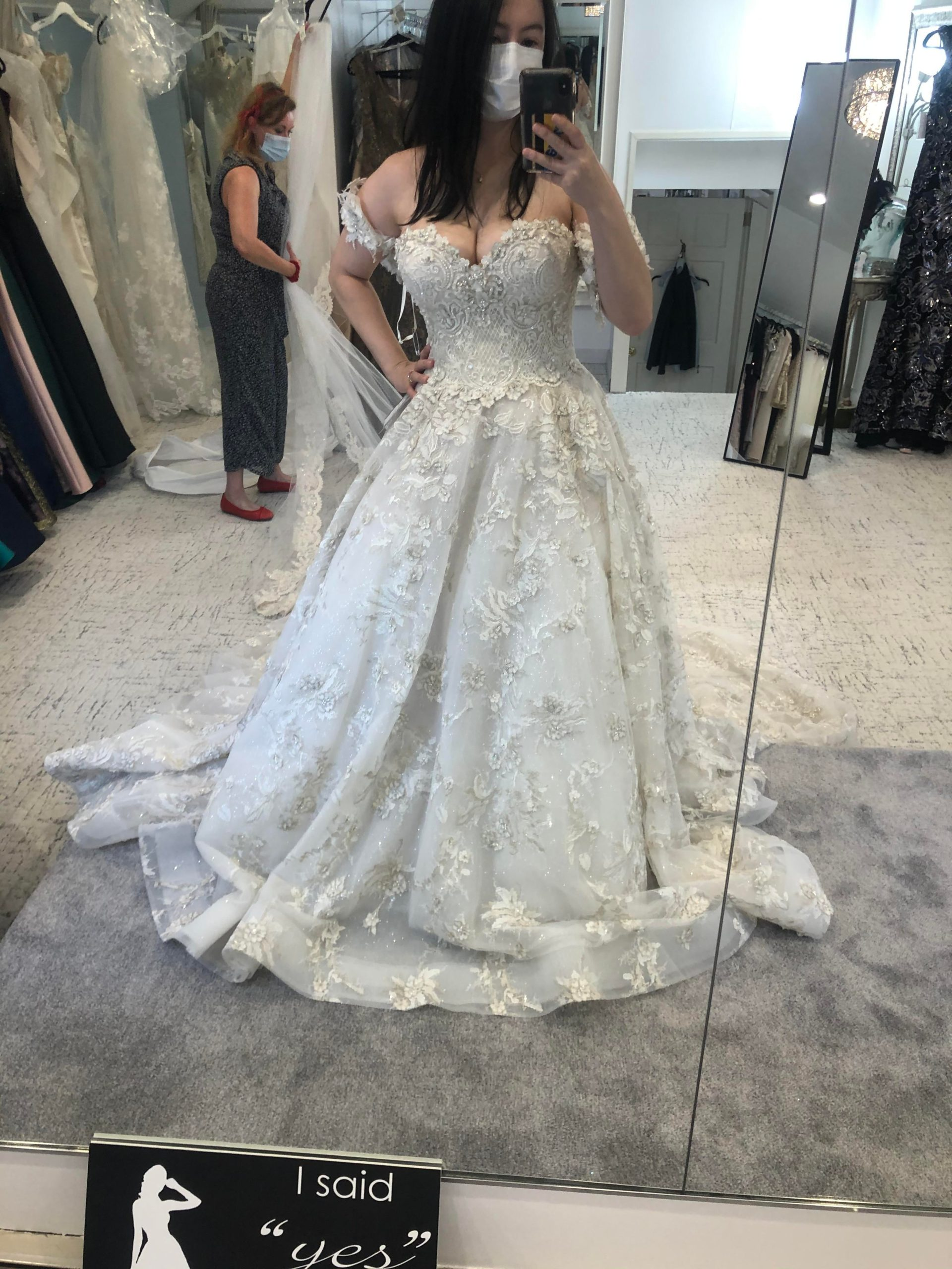The option arm bands to my dress make me feel look/feel like a tavern wench, but I'm into it. : weddingdress