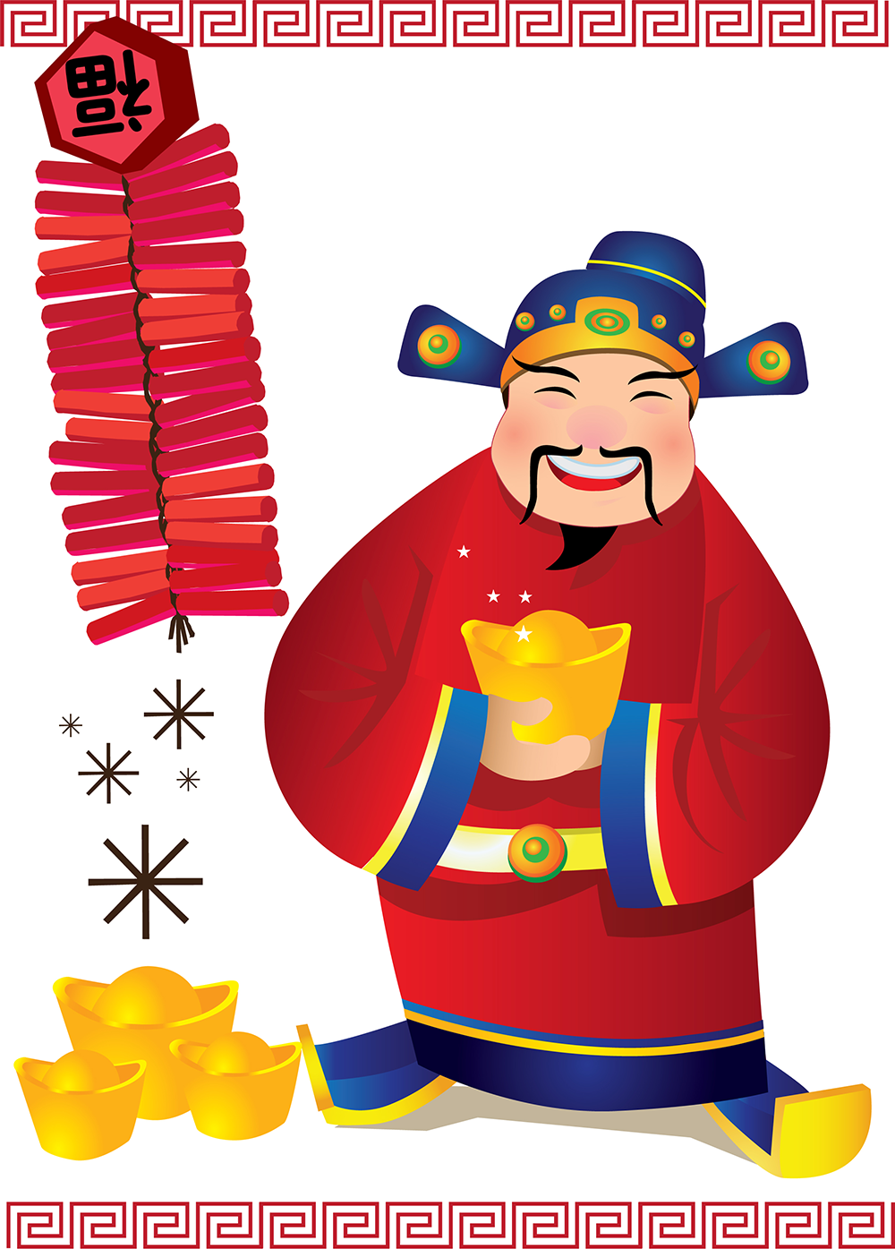 Caishen - Chinese God of Wealth.