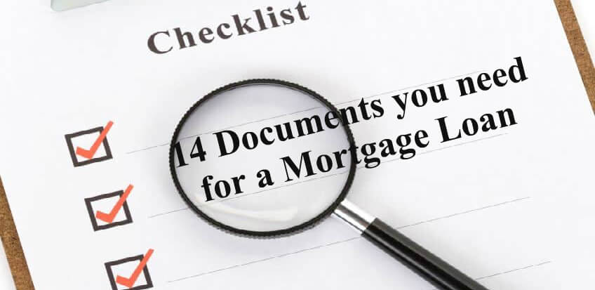 Mortgage Application Loan Documents Checklist 2017 (14 Required Docs)