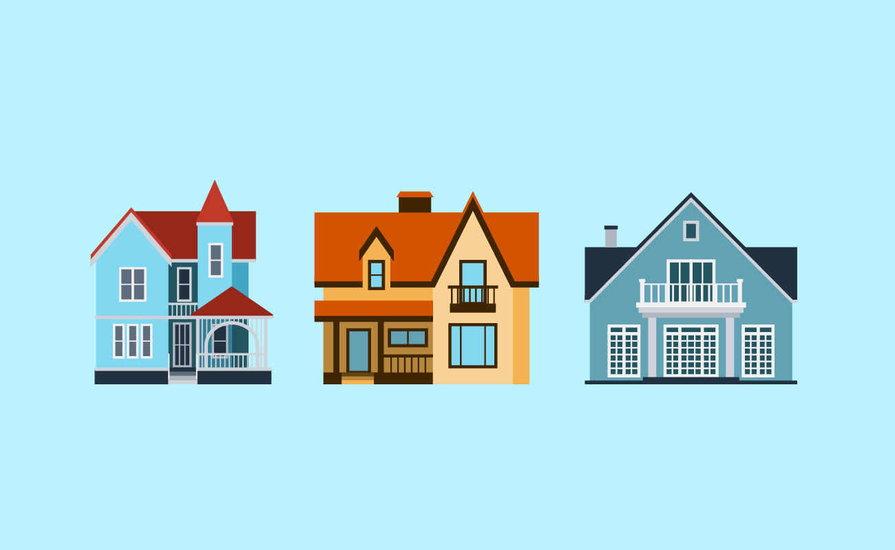 Comparing different houses.