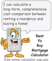 Rent Vs Buy Mortgage Calculator Includes Home Ownership Expenses