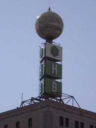 Huntington's Weatherball in Flint, Michigan, built in 1956 by Citizens Bank, the former building owner