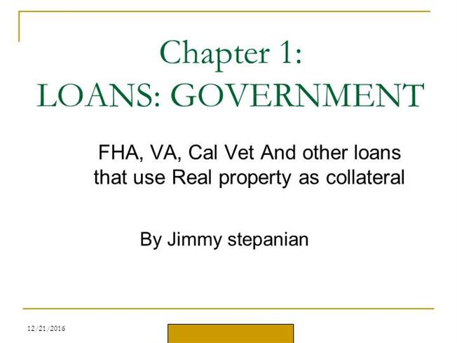Actual Info about FHA Loans by Jim Stepanian  authorSTREAM